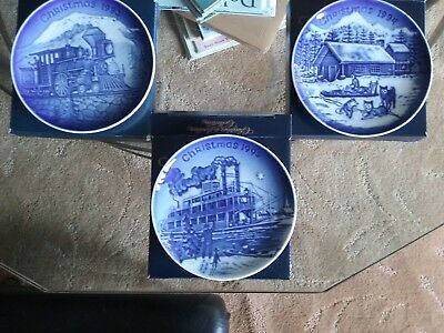Bing and Grondahl Set of three Christmas in America plates