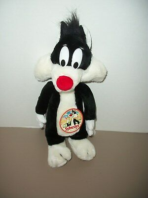 """Vintage 16"""" Warner Bros Sylvester the Cat Plush Doll by Mighty Star w/Tags!"""