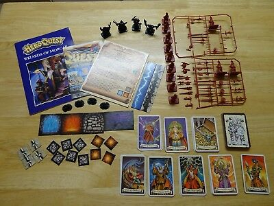 Heroquest Wizards of Morcar 100% Complete unpainted (unboxed) Hero Quest MB