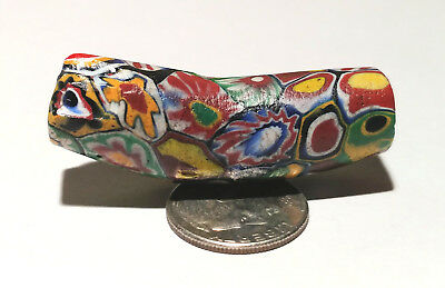Antique Venetian Multi-Murine Elbow African Glass Trade Bead