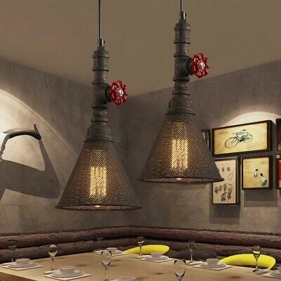 Rustic Industrial Pendant Light Vintage Restaurant Cafe Ceiling Lamp Fixture US