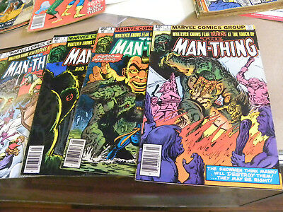 Marvel 1980 4 of 11 issues MAN-THING 3 4 6 7 2nd Series qq