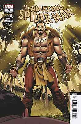 AMAZING SPIDERMAN 5 vol 5 2018 2nd PRINT KRAVEN HUNTER VARIANT NM