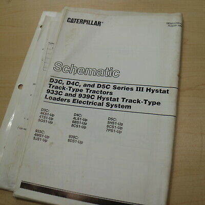 CAT CATERPILLAR D3C D4C D5C TRACTOR CRAWLER Electrical Schematic Diagram  Manual