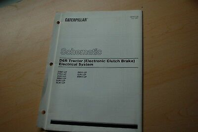 cat caterpillar d6r tractor electrical schematic diagram manual service  repair