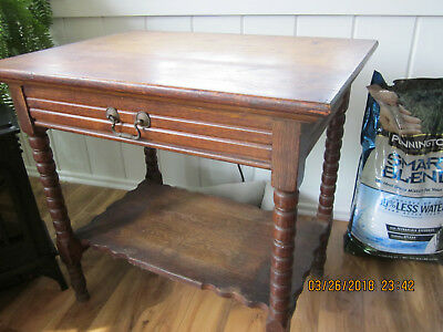 antique oak table - pick up only