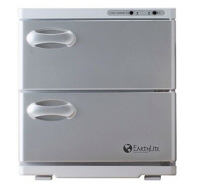 NEW EarthLite Salon Large UV Hot Towel Cabinet Towel Sanitizer Warmer White