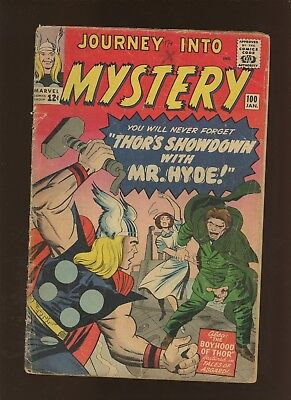 Journey Into Mystery 100 GD 2.0 * 1 Book Lot * Thor! Stan Lee! Jack Kirby!