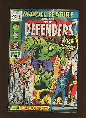 Marvel Feature 1 FN/VF 7.0 * 1 Book Lot * Origin & 1st Defenders!