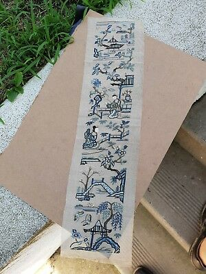Antique chinese  textile Panel