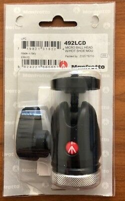 Manfrotto 492LCD Micro Ball Head W/Hot Shoe Mount MADE IN ITALY ***LAST***
