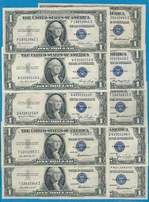10-$1.00  Mixed 1935 Series Blue Seal Silver Certificates Choice New Dealers Lot