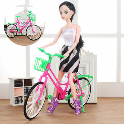 Fashion Exquisite Rotatable Wheels Detachable Plastic Bike Toys For Barbie Doll