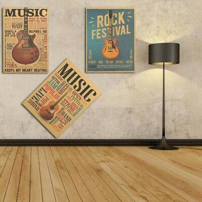 Retro Poster Kraft Paper Antique Bar Room Wall Decor Nostalgic Playbill HOT