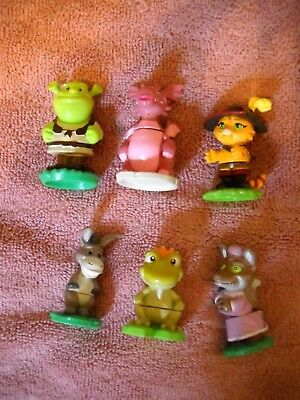 Lot of 6 SHREK figures with base 2006 DWA