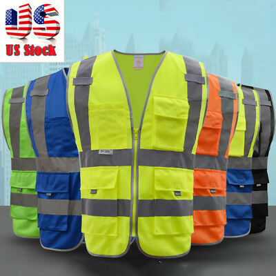 Safety Reflective Vest Security Night Visibility Construction Traffic/Warehouse