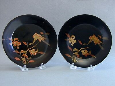 Beautiful Chinese Qing Export 17th 18th Century Painted Enamel Lacquer Dishes