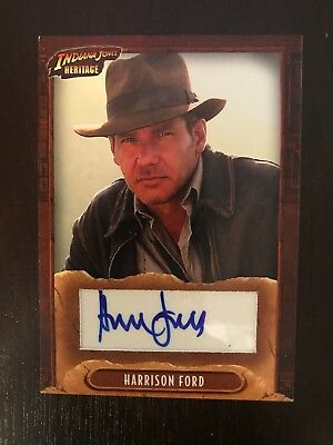 2008 Topps Heritage Indiana Jones Star Wars Harrison Ford Auto Autograph Card