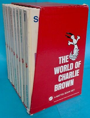 Vintage 1960's-70's The World of Charlie Brown Book Set by Mattel