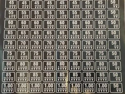 New Antares  Combo Vending Machine Coin Mechanism Price Stickers