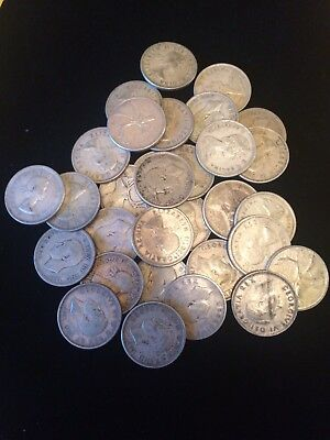 $7.75 Face Value 80% Silver Canadian (31)Quarters 1930's-60's