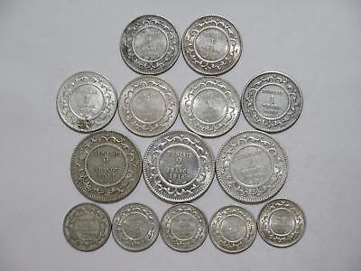 Tunisia Tunisie 50 Centimes 2 1 Francs Silver Type World Coin Collection Lot