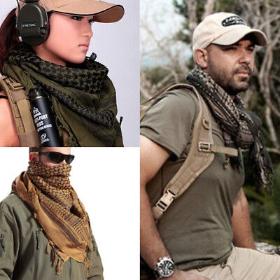 Men Womens Military Arab Tactical Desert Army Shemagh KeffIye Scarf Scarves Hot#