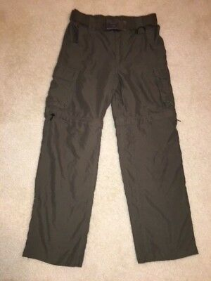 Boy Scouts BSA Official Switchback Convertible Pants Youth Large & Belt SM/MD