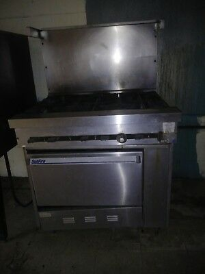 SunFire Stainless Steel Commercial 6 Burner Gas Stove