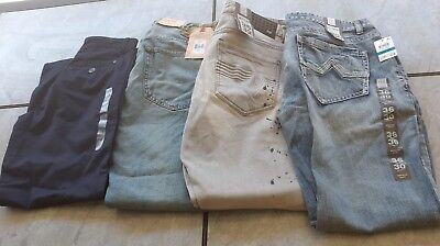 Men Teenage Boys lot of 4 pair of jeans INC Ralph Lauren Tommy Hilfiger Denim
