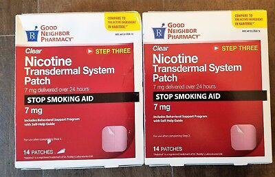 2 For 1**good Neighbor Nicotine Patches Step 3 4/2019 Compare To Habitol 7Mg