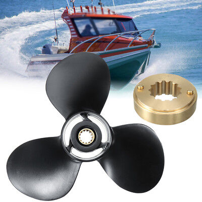 10-1/2 X 13 Aluminum Marine Propeller Set For Mercury Outboard Engine 25-70HP R