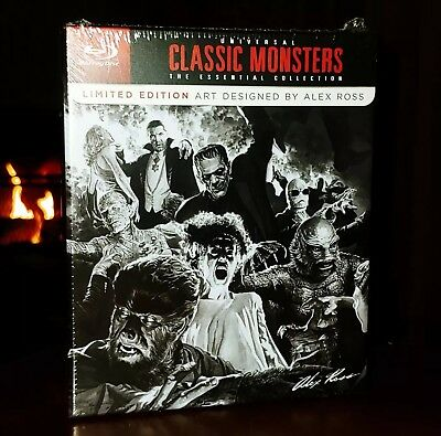 Universal (Classic) Monsters The Essential Collection (Blu-Ray) Brand New Sealed