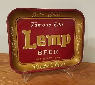 SCARCE 1930s LEMP BEER tray from East St. Louis, ILLINOIS – NICE!!!