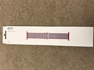 Apple MQVD2AM/A 38mm Berry Woven Nylon Watch Band BRAND NEW
