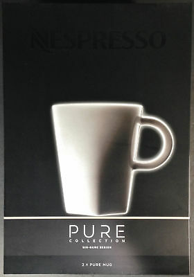 Nespresso Pure Collection, Big Game Design, 2 Mugs And Saucers - New In Box