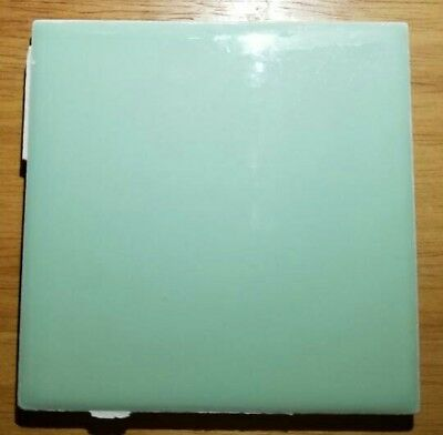 "Vintage Seafoam Green Ceramic Tile USA 4 1/4"" X 4 1/4"" and 1/4"" THICK USA TILE"