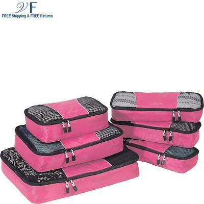 eBags Packing Cubes 6pc Value Set (Peony)
