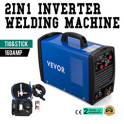 TIG-165S, 160 Amp TIG Torch Stick ARC DC Welder, 110/230V Dual Voltage Welding