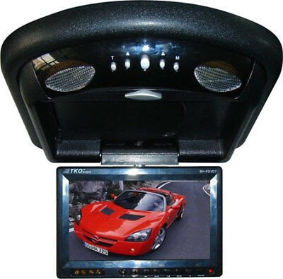 "B TKO 7"" Overhead Ceiling Mount Monitor DVD Player IR Transmitter Remote Control"