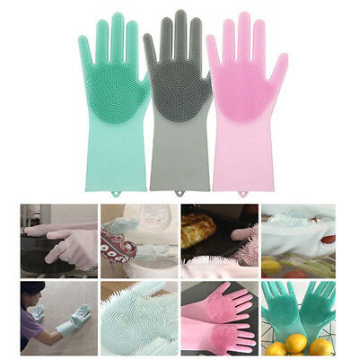 Magic SakSak Eco-Friendly Silicone Cleaning Brush Scrubber Gloves Heat Resistant