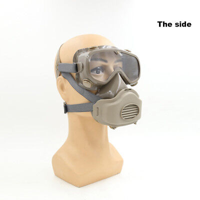 Chemical Dust Full Face Mask Goggles Respirator Gas Smoke Fire Paint Protector