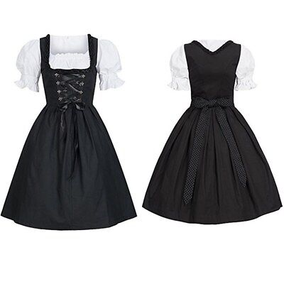 US Dirndl Dress German Oktoberfest Bavarian Beer Wench Costume Maid Outfit Fancy