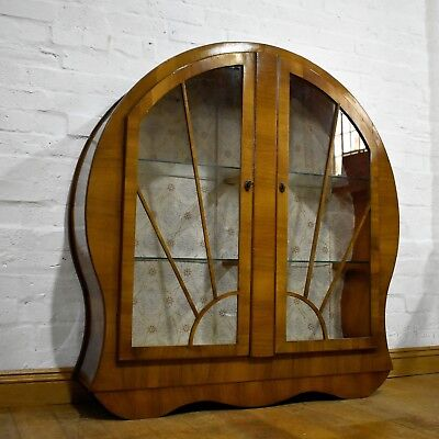Antique vintage Art Deco style retro display cabinet