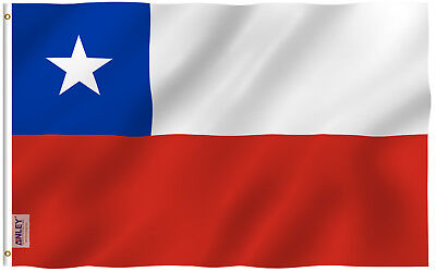 Anley Fly Breeze 3x5 Foot Chile Flag Chilean Flags Double Stitched Polyester
