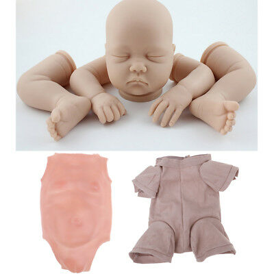 "Silicone 22"" Reborn Doll Kit Newborn Baby Girl Doll DIY Blank Mold Unpainted"