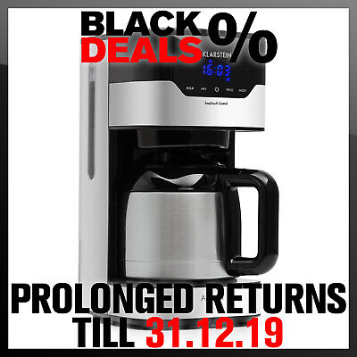 Coffee Maker Machine Filter Electric 15 Cups 800W LCD Touch  Silver / Black