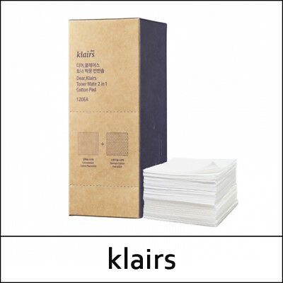 [Klairs] Toner Mate 2 in 1 Cotton Pad 120ea / Korea Cosmetic SweetCorea / (S23)