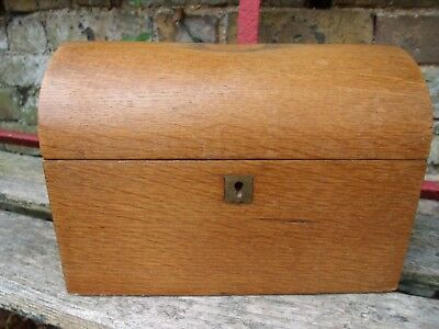 Edwardian Oak Domed Top Stationary Box