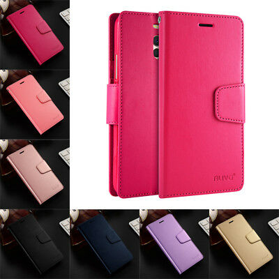 For Meizu M6 MS6 M5 M3 Note Business Slim Leather Case Flip Stand Wallet Cover